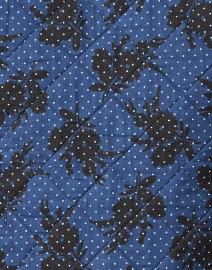 Soler - Elsa Navy and Black Floral Print Quilted Cotton Jacket