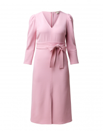 Damia Pink Textured Crepe Dress