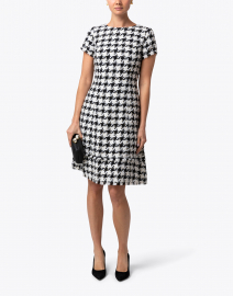 Black and White Tweed Dress