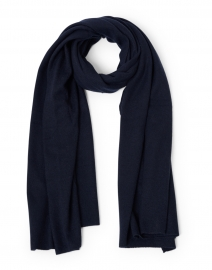 Deep Navy Cashmere Mini Travel Wrap