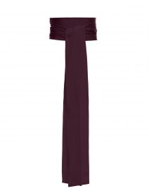 Plum Wide Satin Ribbed Belt