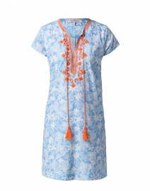 Bandana Light Blue and White Cotton Dress