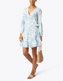 Poupette St Barth - Ilona Blue and Red Edelweiss Print Dress