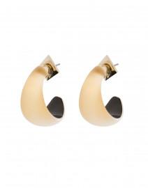 Gold Huggie Lucite Hoop Earring