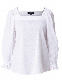 Bevins White Eyelet Cotton Blouse
