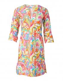 Megan Apricot Fanfair Print Dress