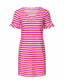 Nina Pink and Orange Striped Dress
