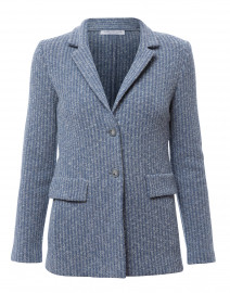 Begonia Blue and Grey Tweed Jacket