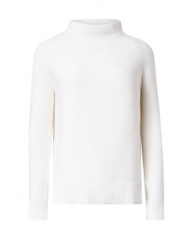 Winter White Garter Stitch Cotton Sweater