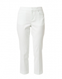 Madison Mint and White Stripe Stretch Cotton Crop Pant