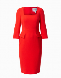 Ivor Red Square Neck Dress