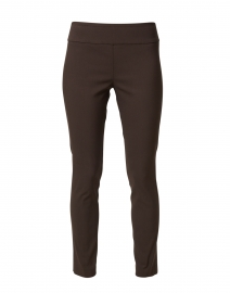 Chocolate Brown Control Stretch Pull On Ankle Pant