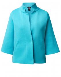 Azure Blue Viscose Swing Jacket