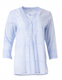 Arles Blue Surry Print Cotton Shirt