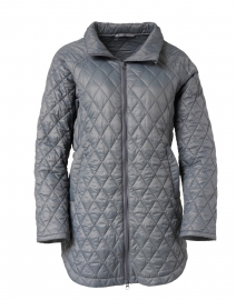 Pewter Grey Quilted Zip Jacket