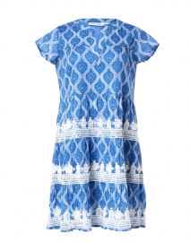 Pamela Blue Danu Block Print Dress