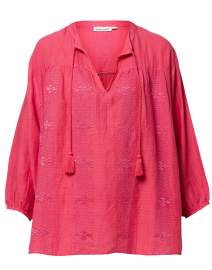 Addy Pink Tonal Embroidered Top