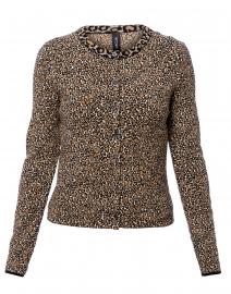 Beige Leopard Printed Cardigan