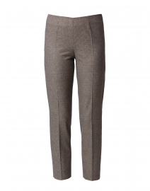 Monia Brown Houndstooth Stretch Pant
