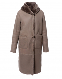 Melina Grey Reversible Fur Shearling Coat