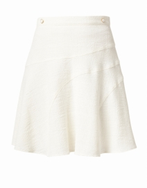 Vani White Stretch Cotton Poly Skirt