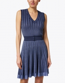 D.Exterior - Navy Lurex Knit Dress
