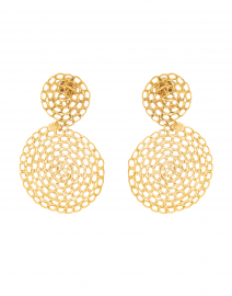 Onde Gourmette Gold Drop Earring