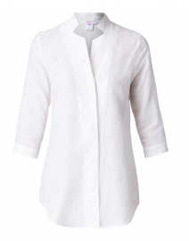 Leggiadro - Ivory Embroidered Silk Tunic
