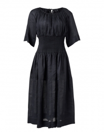Daison Black Cotton Viole Midi Dress