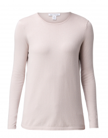 Blush Beige Crew Neck Stretch Cotton Top