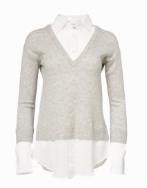 Veronica Beard - Brami Grey Cashmere and Wool Layered Sweater