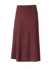 Burgundy Knit Cashmere Skirt