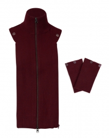 Uptown Essential Bordeaux Cashmere Dickey and Cuff Set