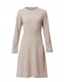 Beige Wool Silk Knit Dress