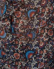Veronica Beard - Aneri Black Multi Floral Print Silk Blouse