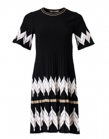 Black Chevron Knit Dress