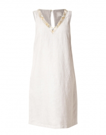 Natural Embellished Linen Dress