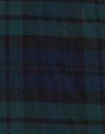 Johnstons of Elgin - Navy and Green Extra Fine Merino Tartan Scarf