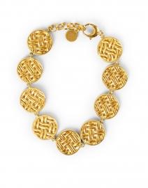 Lontar Gold Circle Weave Bracelet