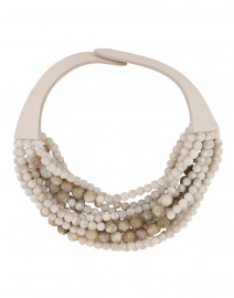 Marcella Dove White and Grey Stone Necklace