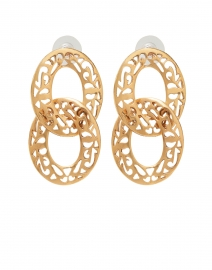 Sambra Gold Double Drop Hoop Earring