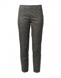 Monia Khaki and Black Geo Print Stretch Pant