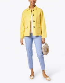 Weekend Max Mara - Biavo Yellow Wool Button Up Collared Jacket