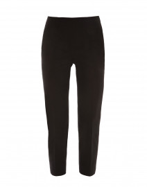 Audrey Black Stretch Cotton Capri Pant