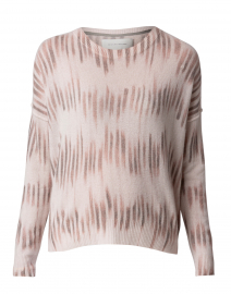 Pink Linear Ikat Print Sweater