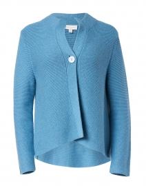 Blue Cotton Garter Stitch Cardigan