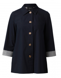 Nidia Navy and Grey Cotton Jacket