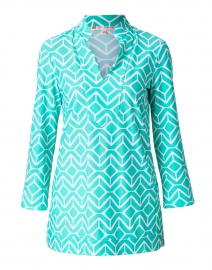 Chris Seafoam Green Geometric Printed Tunic