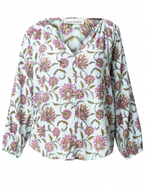 Lucy Mint Vine Floral Top