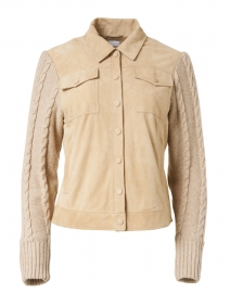 Beige Suede and Knit Jacket